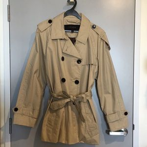 Authentic Coach Cropped Trench Coat Classic XL